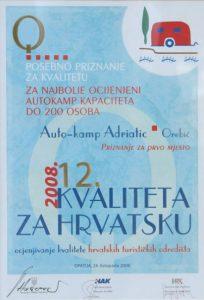 kvaliteta za hrvatsku 2008