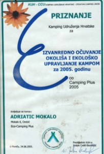 priznanje ocuvanje okolisa kamp 2005